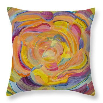 Organic Ice Cream Throw Pillow by Cathy Long