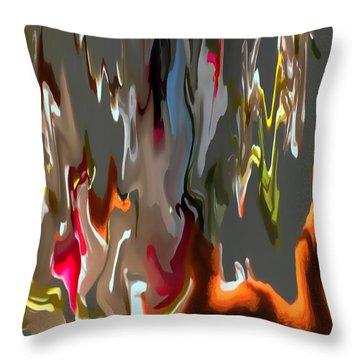 Organic Impressions 1 Throw Pillow by Cedric Hampton
