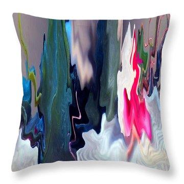 Organic Impressions 2 Throw Pillow by Cedric Hampton