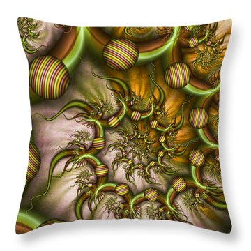 Throw Pillow featuring the digital art Organic Playground by Gabiw Art