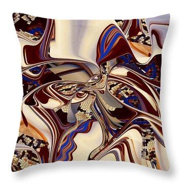 Organic Web - Fine Art Digital Abstract - Rd Throw Pillow