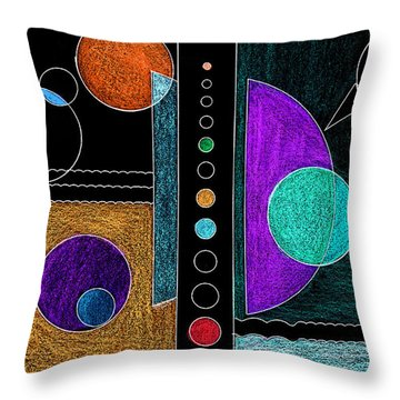 Organized Planets Throw Pillow by Mary Bedy