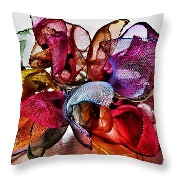 Organza Petals Throw Pillow