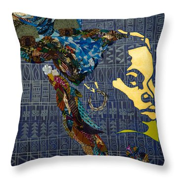 Throw Pillow featuring the tapestry - textile Ori Dreams Of Home by Apanaki Temitayo M
