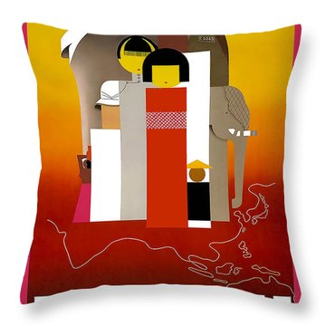 Orient Calls Throw Pillow