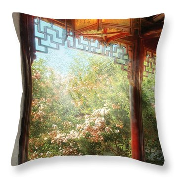 Orient - Lamp - Simply Chinese Throw Pillow by Mike Savad