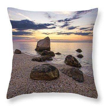 Orient Point Calm Throw Pillow