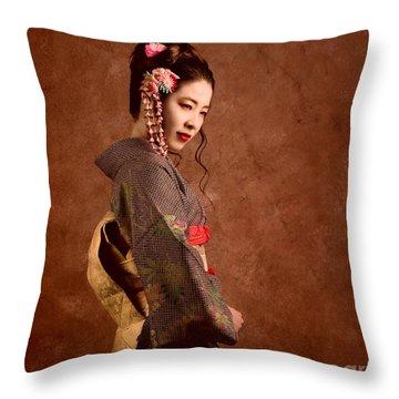 Oriental Beauty Throw Pillow