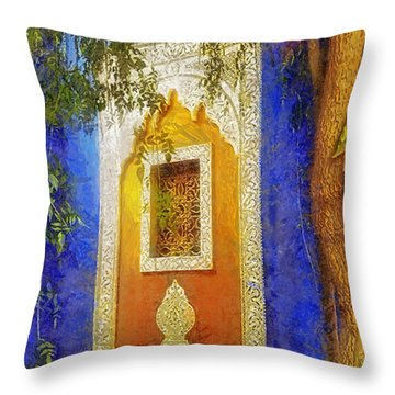 Oriental Mood Throw Pillow by Mo T