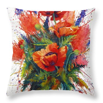Oriental Overture Throw Pillow by Karen Mattson