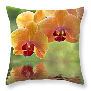 Oriental Spa - Square Throw Pillow