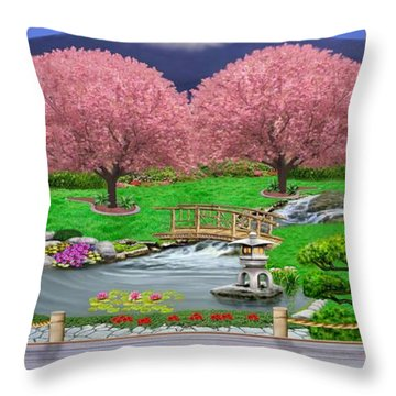 Oriental Splendor Throw Pillow by Glenn Holbrook