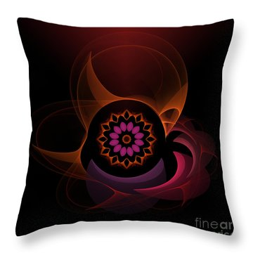 Throw Pillow featuring the digital art Oriental Surprise by Hanza Turgul