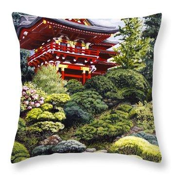 Oriental Treasure Throw Pillow