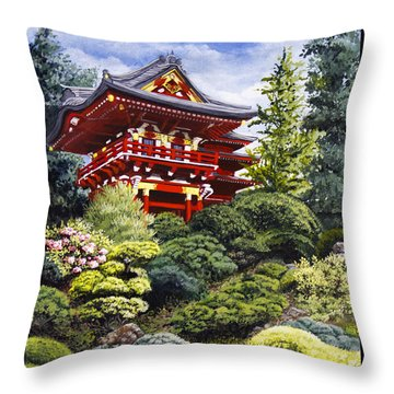 Oriental Treasure Throw Pillow