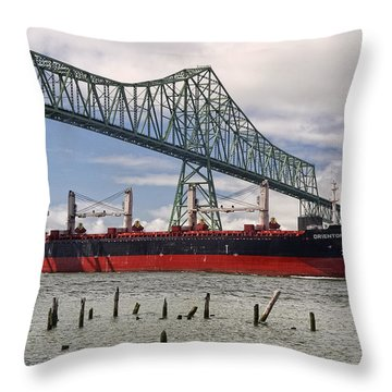 Orientor 2 Throw Pillow by Wes and Dotty Weber