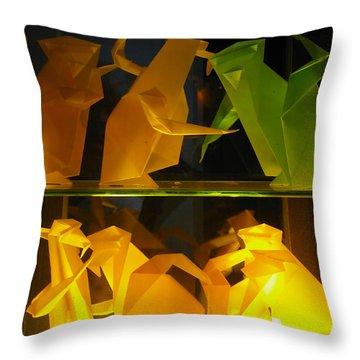 Origami Throw Pillow by Leena Pekkalainen