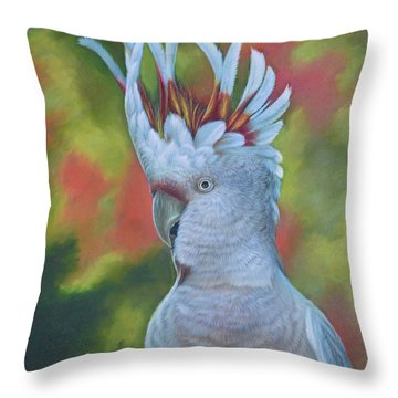 Original Animal Oil Painting Art -parrot #16-2-5-17 Throw Pillow