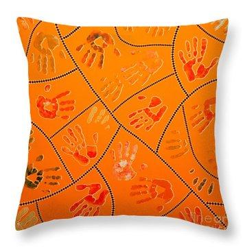Original Art 3 Throw Pillow