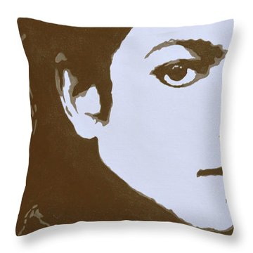 original black an white acrylic paint art- portrait of Michael Jackson#16-2-4-12 Throw Pillow