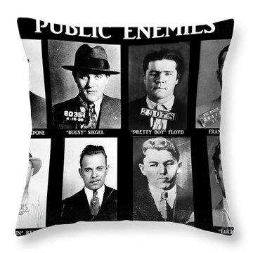 Original Gangsters - Public Enemies Throw Pillow