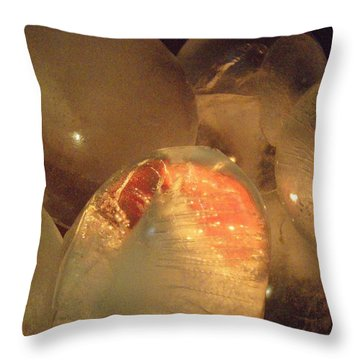 Throw Pillow featuring the sculpture Original Heart by Kristine Nora