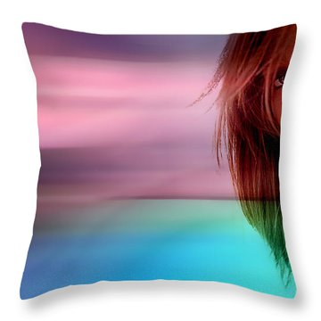 Original Jessica Alba Painting Throw Pillow