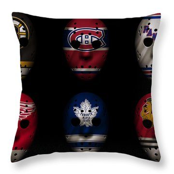 Original Six Jersey Mask Throw Pillow