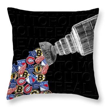 Original Six Stanley Cup 2 Throw Pillow
