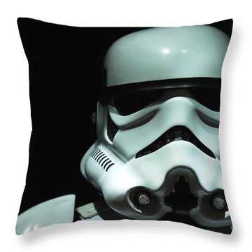 Original Stormtrooper Throw Pillow by Micah May