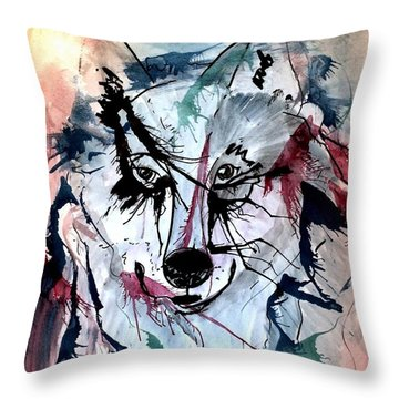Throw Pillow featuring the painting Orion by Denise Tomasura