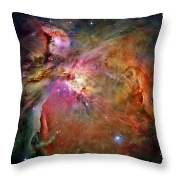 Orion Nebula Throw Pillow by Benjamin Yeager