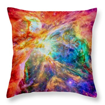 Orions Heart-where The Stars Are Born Throw Pillow