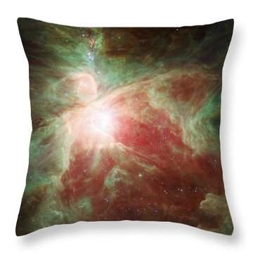 Orion's Sword Throw Pillow by Adam Romanowicz