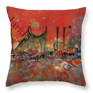 Orlando City Collage 2 Throw Pillow
