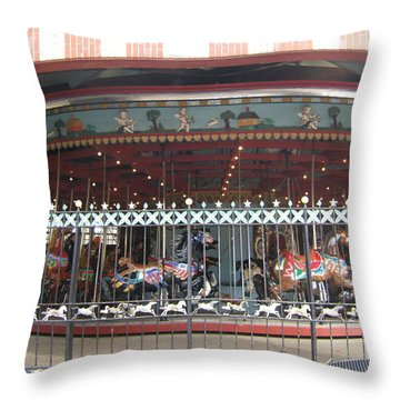 Throw Pillow featuring the photograph Ornamental Fence by Barbara McDevitt