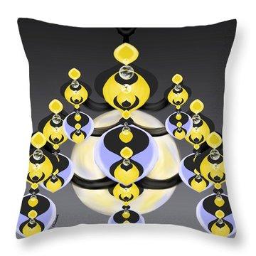 Ornamental Illumination Throw Pillow
