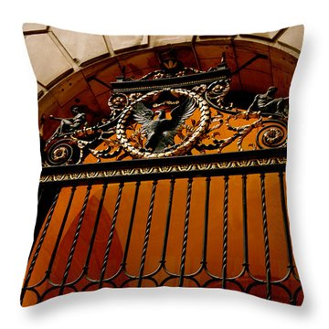 Ornate Arched Door Throw Pillow