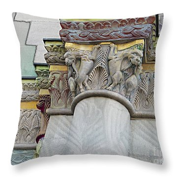 Ornate Columns Giclee Throw Pillow by CR Leyland