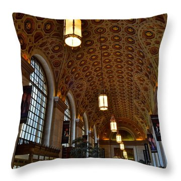 Ornate Entryway Throw Pillow by Frozen in Time Fine Art Photography