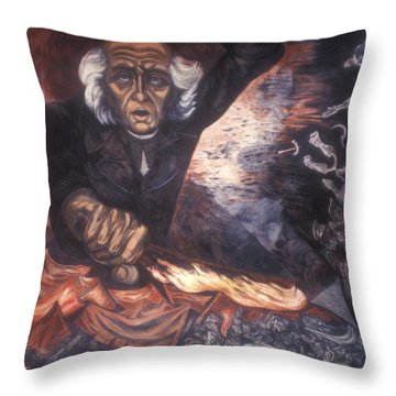Orozco Mural Guadalajara Throw Pillow