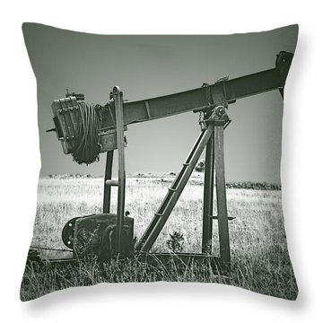 Orphans Of The Texas Oil Fields Throw Pillow