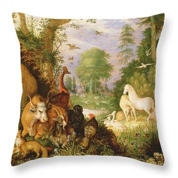 Orpheus Charming The Animals, C.1618 Throw Pillow