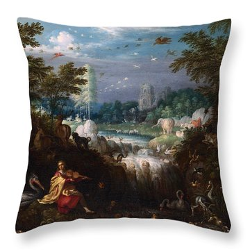 Orpheus Throw Pillow by Roelant Savery
