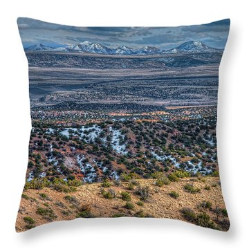 Ortiz Mountains Throw Pillow