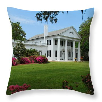 Orton Plantation Throw Pillow by Bob Sample