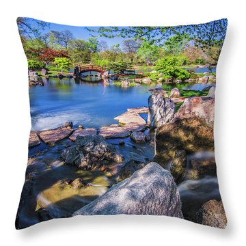 Osaka Japanese Garden Throw Pillow