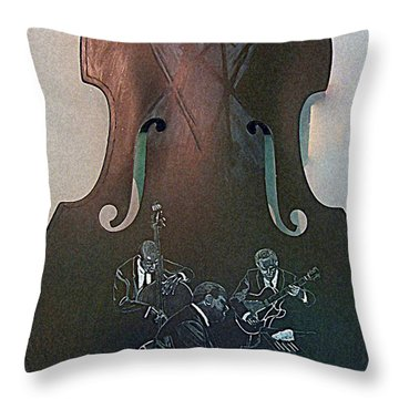 Oscar Peterson Trio Throw Pillow