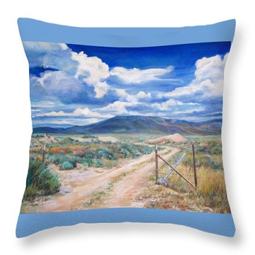 Osceola Nevada Ghost Town Throw Pillow by Donna Tucker