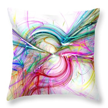 Oscillation...balance Throw Pillow